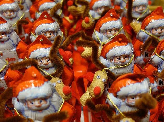 Weihnachtsmänner für die Weihnachtsfeier