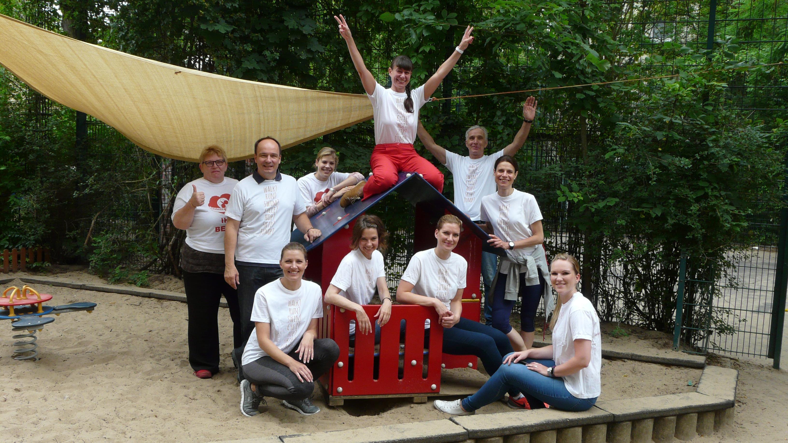 Gruppenbild Teamevent Garten