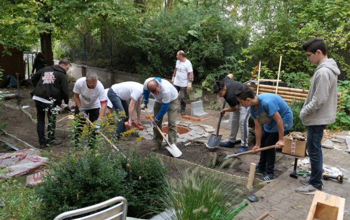 Führungskräfte Firmenevent DB Garten