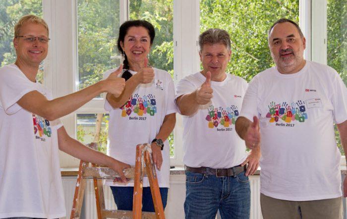 Führungskräfte Teameinsatz DB Team Malern